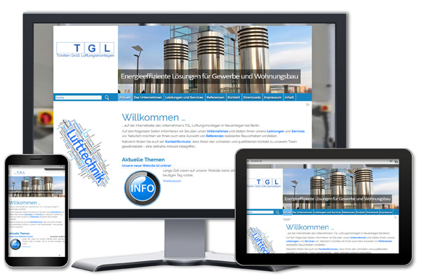 BP-Webdesign - Relaunch der Site TGL-Berlin.de